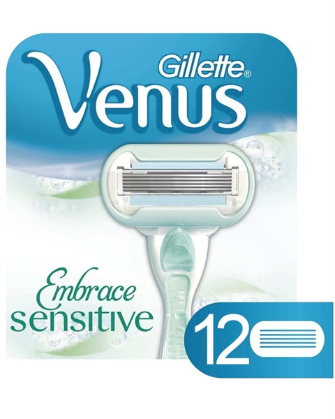 Folkekære Gillette Venus Embrace Sensitive barberblade- 12 stk. JM-04