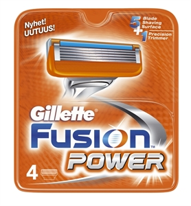 Billig Gillette Fusion Power  Cartridges - 4 pcs.